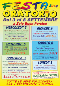 Oratorio in Festa 2014:Zelo