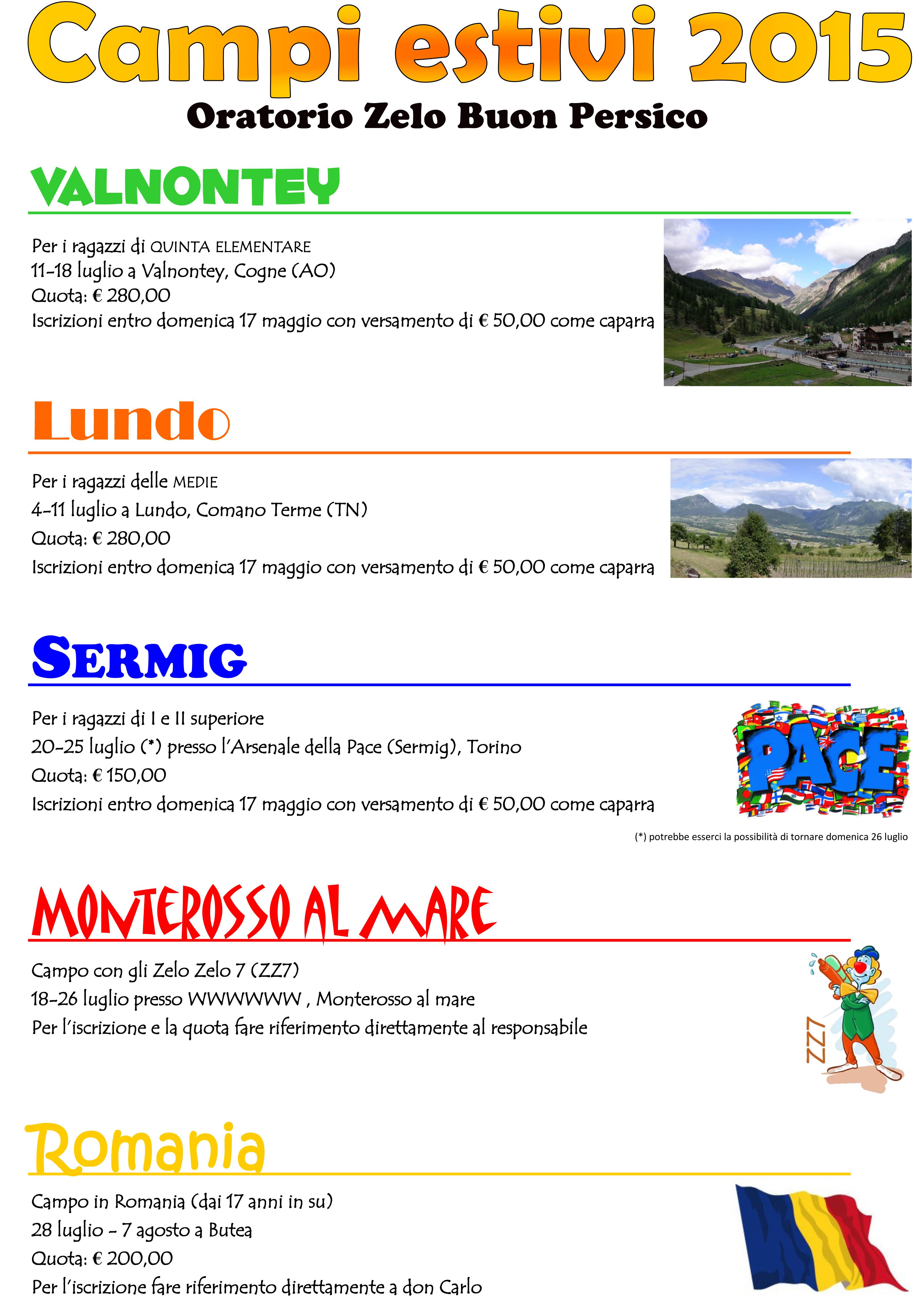 Top Campi estivi e invernali   Parrocchia di Sant'Andrea Apostolo OT66