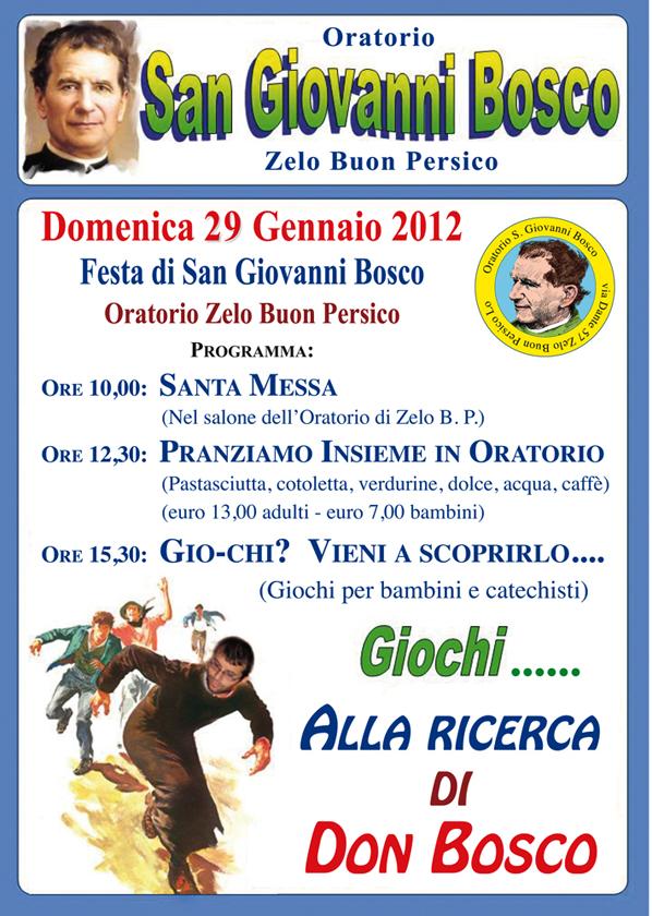 Festa San Giovanni Bosco Zelo:Oratorio Zelo