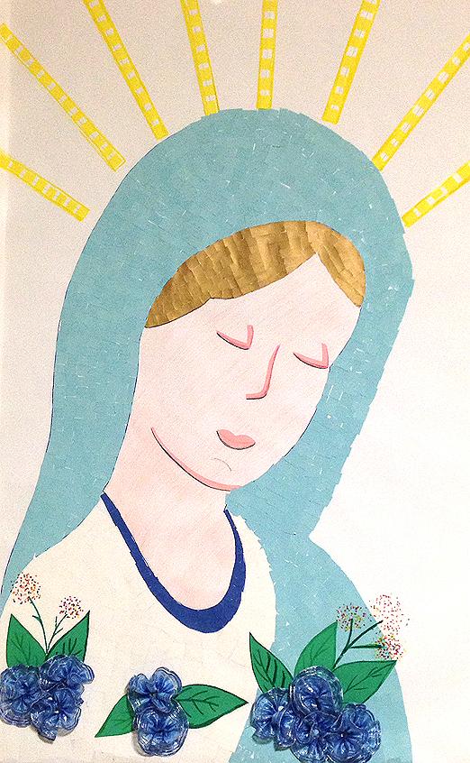 Maria fatta dai bambini di catechismo