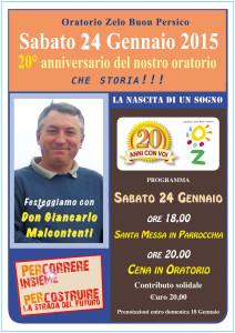 20 Anniversario Oratorio:Oratorio Zelo