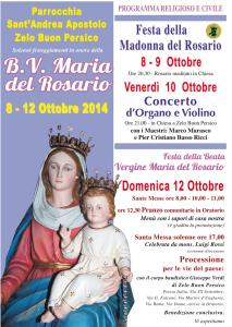 Festa Madonna 2014:Festa Menu