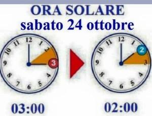 cambio ora solare sabato