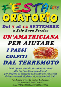 Oratorio in Festa 2016:Zelo
