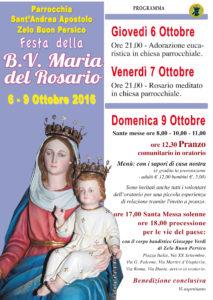 Festa Madonna 2016:Festa Menu